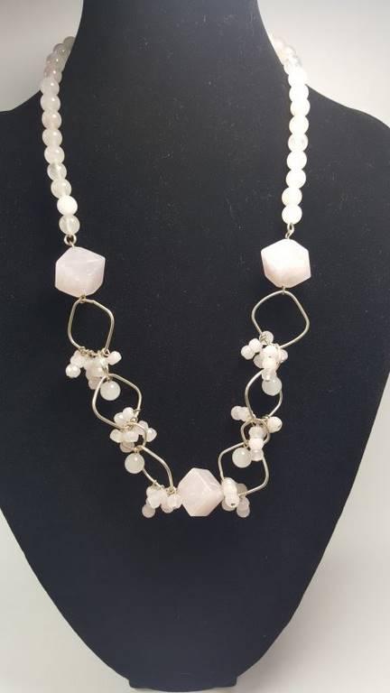 collar de cuarzo rosa - 1005003