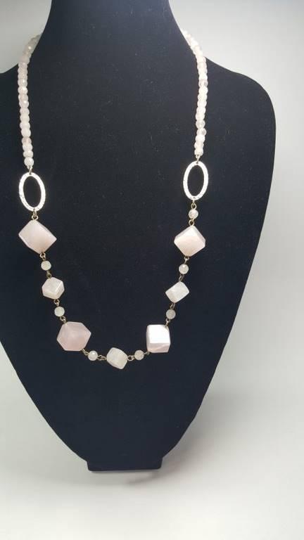 collar de cuarzo rosa - 1005004
