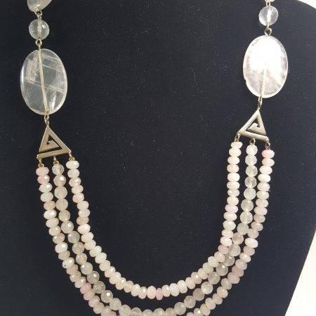 collar de cuarzo rosa - 1005005