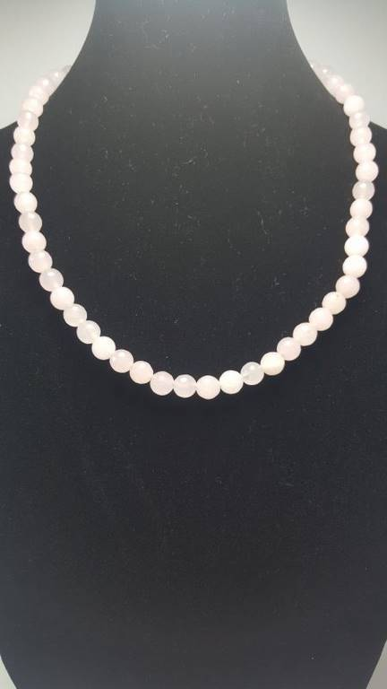 collar de cuarzo rosa - 1005006