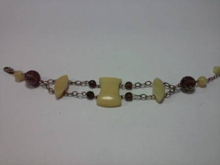pulsera de cuarzo ahumado y calcita - 2051001