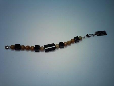 pulsera de jaspe madera y ónix - 2067001