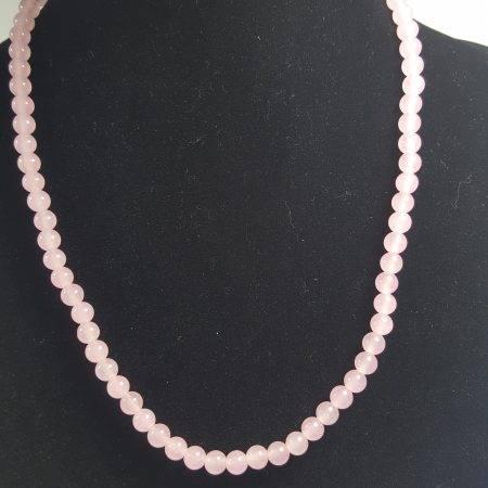 collar de ágata rosa - 1005008