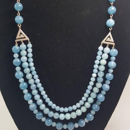 collar de ágata azul - 1022003