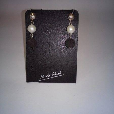 pendientes de lava y perla - 3012002