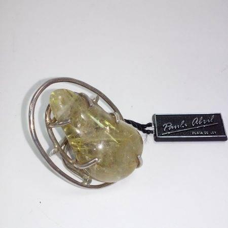 sortija de cuarzo con rutilo oro - 4053002
