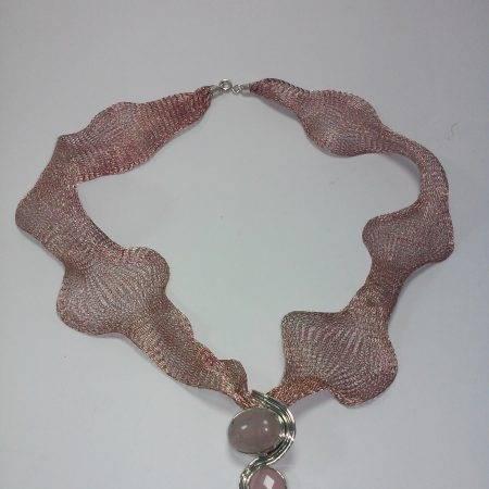colgante de cuarzo rosa - 5005001