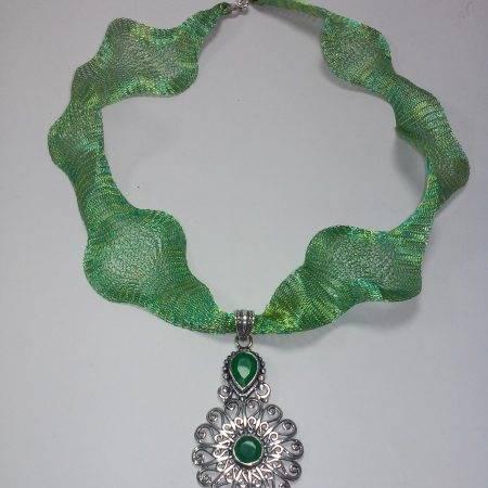 colgante de ágata verde - 5023002